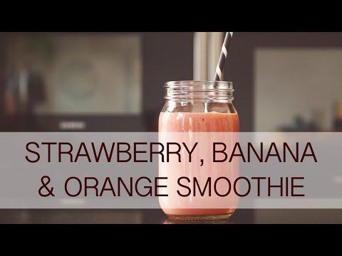 Strawberry, Banana & Orange Smoothie