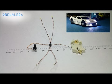 Add lights to your Hot Wheels / Matchbox and more