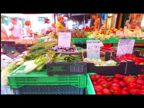 Food Market At Hala Mirowska Warsaw Poland  Outdoor Vegetable Bazar