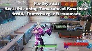 Fortbye #41 - Acessible using Tomatohead Emoticon inside Durrrburger Restaurant LOCATION