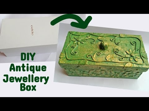 How to make jewellery box at home with waste material l Best out of waste from mobile box