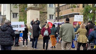 Covid protest speeches, Bonn Square, Oxford 13 Dec 2020 Debbie Hicks Tony Gosling- Stop New Normal