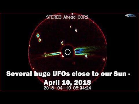 nouvel ordre mondial | Several huge UFOs close to our Sun - April 10, 2018
