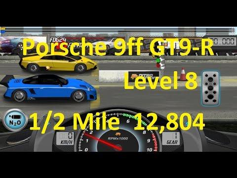 Drag Racing Porsche 9ff GT9-R Level 8 Tune 12,804 1/2 Mile