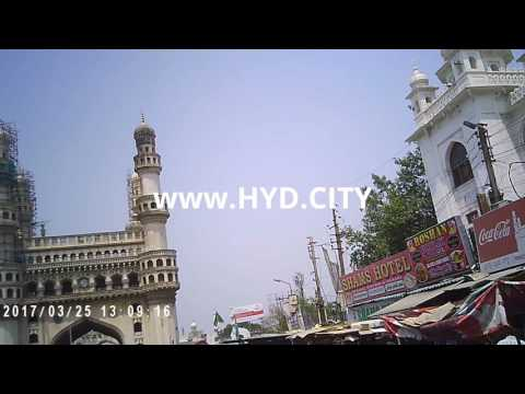 Charminar Monument and Shopping Area Video Hyderabad India