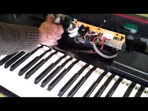 Fixing the keys on a Digital Piano - Where some or all keys are not working cable bus