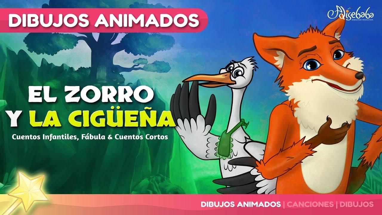 El Zorro y la Cigüeña Nuevo Animado en Español | Cuentos infantiles para  dormir - YouTube