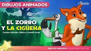 El Zorro y la Cigüeña Nuevo Animado en Español   Cuentos infantiles para dormir
