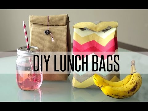 DIY REUSABLE LUNCH BAG / PAPER BAG