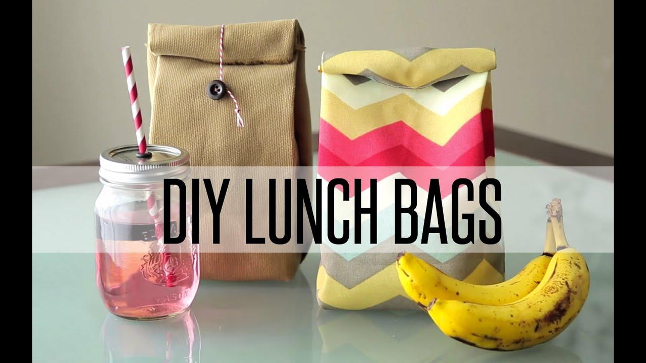 Diy Reusable Lunch Bag Paper Bag Youtube