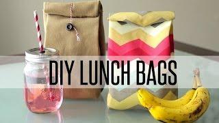 DIY REUSABLE LUNCH BAG / PAPER BAG