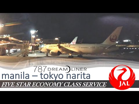 JAPAN AIRLINES 5 STAR ECONOMY SERVICE DURING COVID19 - Boeing 787 Manila To Tokyo Narita
