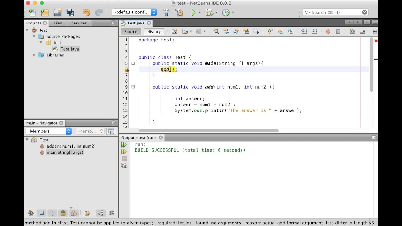 Java Programing Methods With Parameters Tutorial Arabic 9