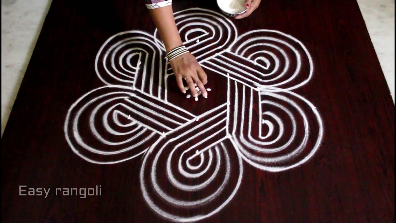 kolam designs with 5x3 interlaced dots || sankranti ...