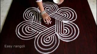 kolam designs with 5x3 interlaced dots || sankranti muggulu designs for dhanurmasam || easy rangoli