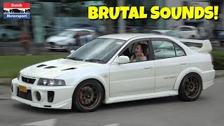 Mitsubishi Lancer Evo Compilation - BRUTAL Sounds!