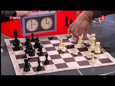 Magnus Carlsen playing a one minute game against Hans Bohm