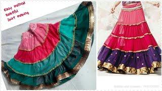 designer lahnga baby girl skirt cutting and stitching aesy method/latest dress design for girls