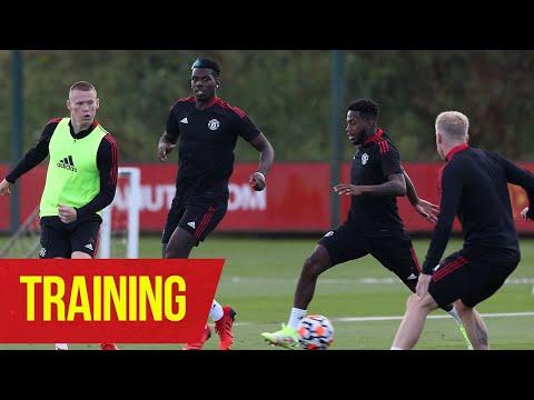 Training |  Reds' last training session before the new Premier League season |  Man Utd v Leeds