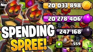 GOING ON A SPENDING SPREE TO FINALLY GET INFERNOS! - Clash of Clans