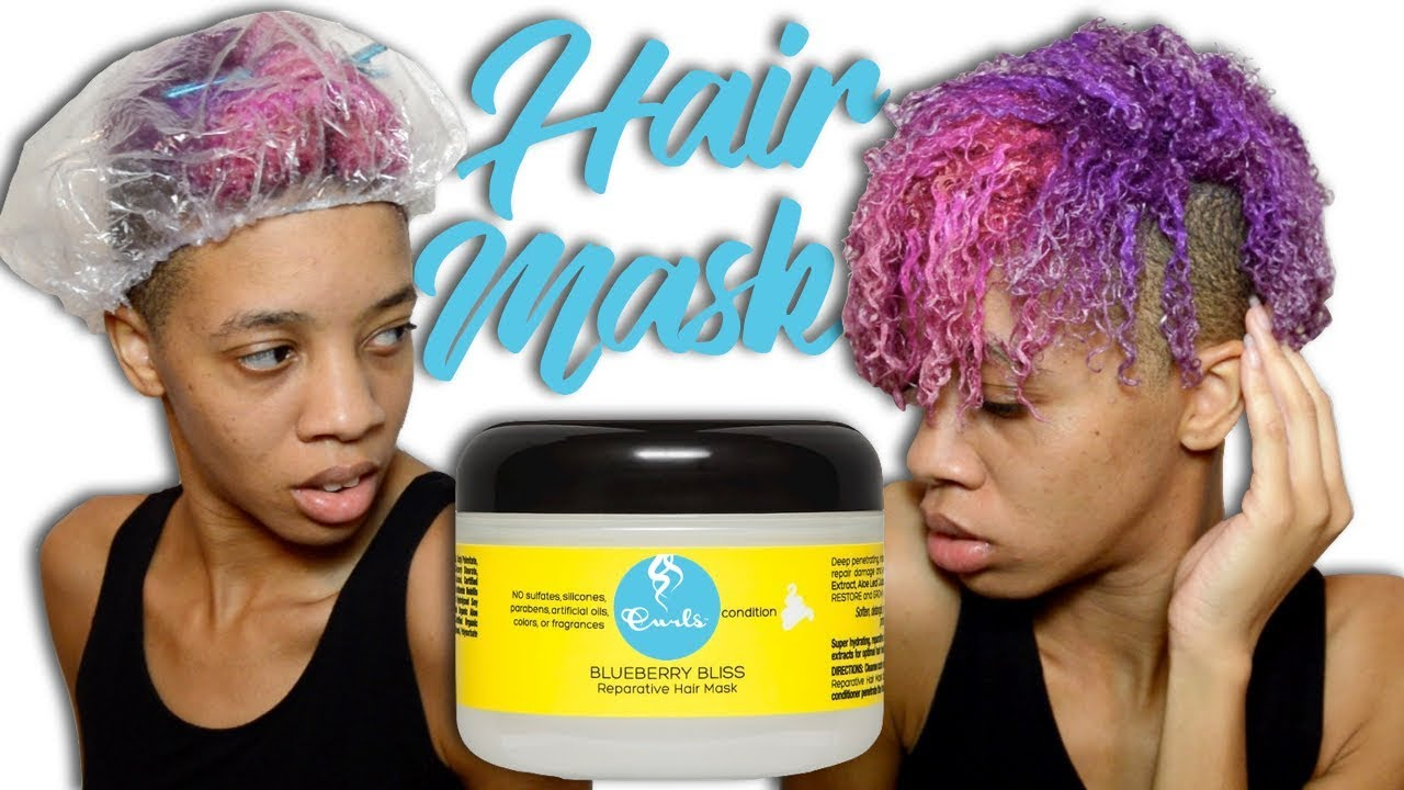 Curls Blueberry Bliss Reparative Hair Mask Ft Black Naturals Youtube