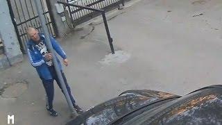 Похождения пьяного хулигана во дворе дома на Куйбышева попали на видео
