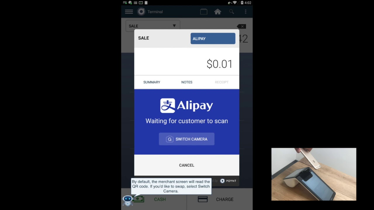 How do I process payments using Alipay? – Poynt Help Center