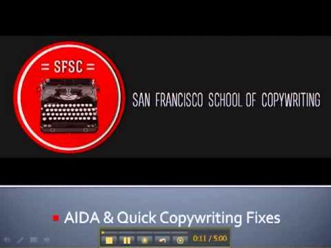 San Francisco School of Copywriting AIDA Quick Copywriting Fixes