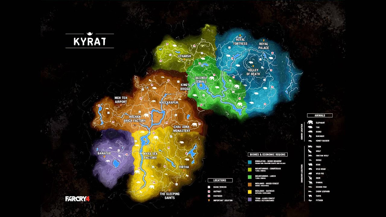 Far Cry 5 Full Map: Map Of Kyrat Revealed