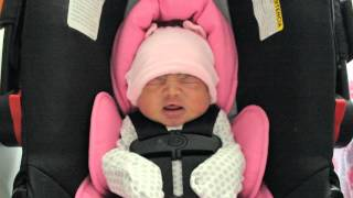 Newborn baby girl coming home from hospital