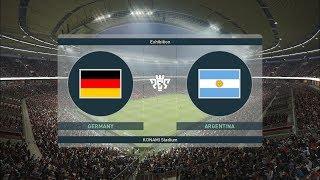 PES 2019 I GERMANY vs ARGENTINA I Gameplay