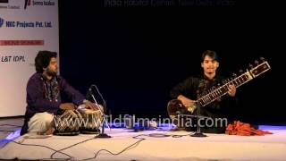 Tabla maestro Hafeez Ahmed Alvi performs with Sitar maestro Mehtab Ahmed Alvi