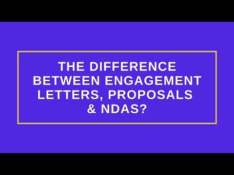 What's the Difference Between Engagement Letters, Proposals, and NDAs?