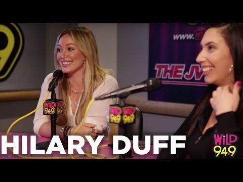 Hilary Duff gives Tinder tips and makes JV's wife Natasha jealous