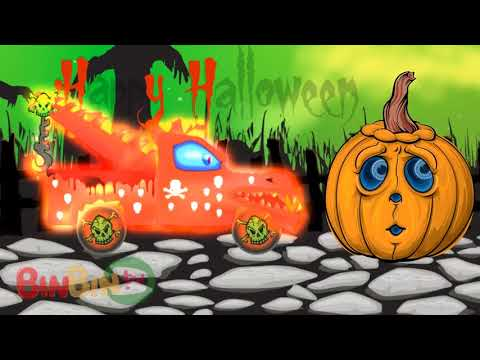 Страшный Эвакуатор | Хэллоуин | Полицейский Автомобиль | Мусоровозы | Дети-Страшные Школьные Автобу