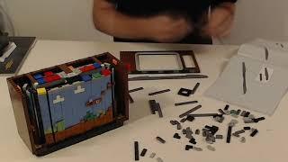 Lego Nintendo Entertainment System Build Timelapse