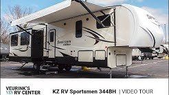 2019 KZ RV Sportsmen 344BH | Bunk House Floor Plan | Veurink's RV Center