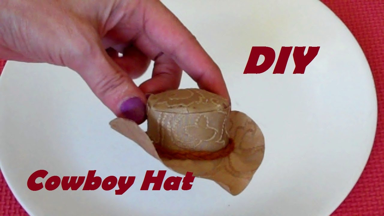eae5aea78fba3 How to Make  Cowboy Hat for Dolls (EASY) - YouTube