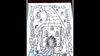 HOW TO DRAW A FAIRY HOUSE COLORING PAGE easy drawing lessons for kids