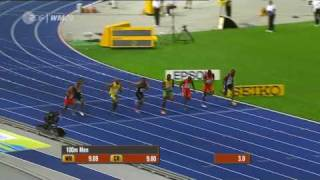 Usain Bolt 9.58 100m New World Record Berlin [HQ](Berlin 2009 - Usain Bolt with a New World Record in 9.58 over 100 m