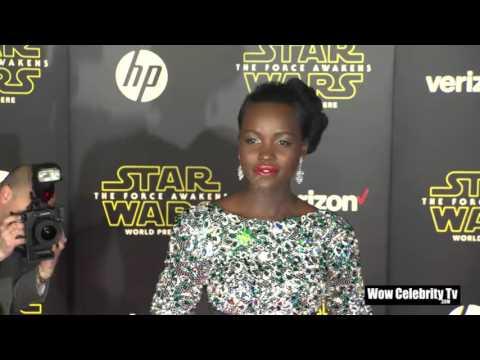 """Lupita Nyong'o at Star Wars The Force Awakens"""" Hollywood Premiere"""