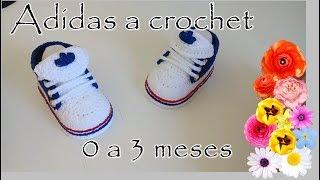 Hipócrita Integral ex  Adidas tejidos a crochet para bebé - YouTube