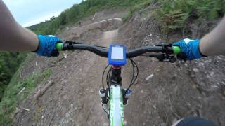 cannock chase lower cliff after rebuild 08/2015 in 4k uktra hd