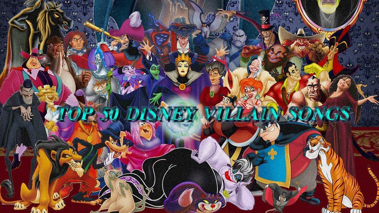 Top 50 Disney villain songs - YouTube