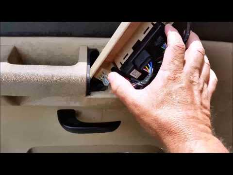 Replacing master window switches on a 2007-2014 GMC/Chevrolet 1500 pickup