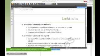 LabMinutes# RS0062 - Cisco BGP Route Filter (Part 3)