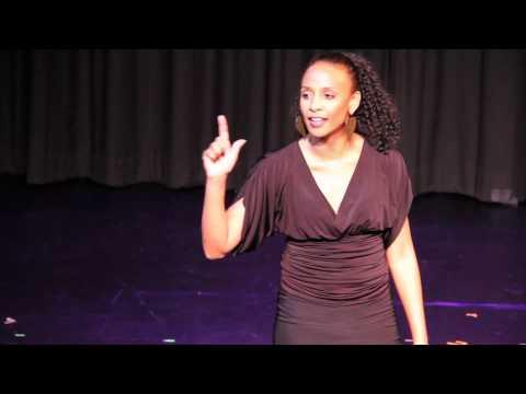 Venus Jones performing at the Los Angeles Women's Theatre Festival