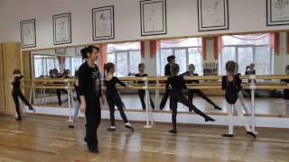 Фрагмент урока препод. Романовской В.В. по теме «Классический танец – начало обучения» с уч-ся 1 кл