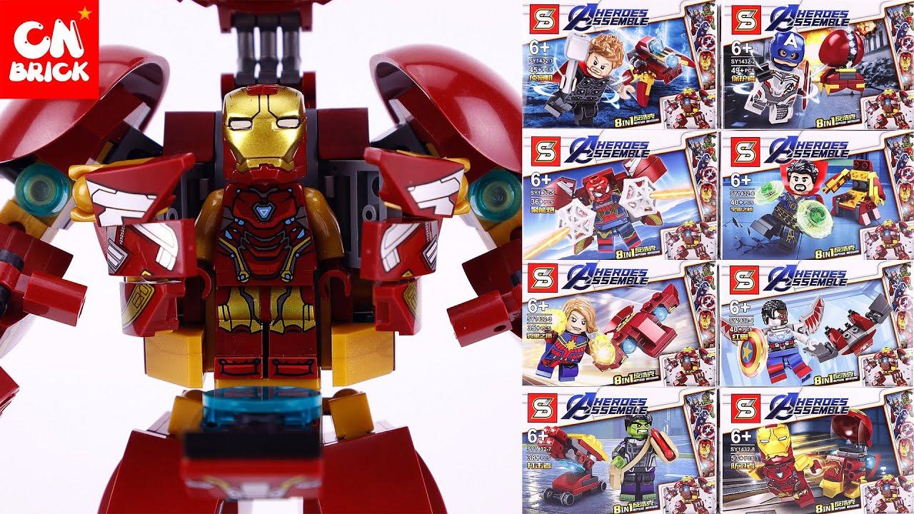 SET 8 LEGO MINIFIGURE THANOS & IRON MAN FINAL BATTLE ...