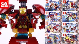 LEGO AVENGERS ENDGAME 8 IN 1 TO HULKBUSTER SY1432  Unofficial lego lego videos